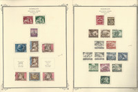 Germany Stamp Collection 1942-45 on 8 Scott Specialty Pages, Semi's, DKZ
