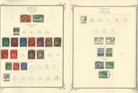 Germany Stamp Collection 1919-55 on 4 Scott Specialty Pages, Airpost, DKZ