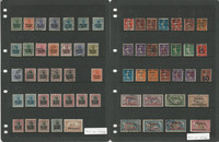 Memel, Germany Stamp Collection on 5 Stock Sheets, DKZ