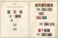 Memel Stamp Collection on 6 Minkus specialty Pages, 1920-23, DKZ