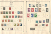 Iceland Stamp Collection on 4 Scott International Pages, 1876-1940, DKZ