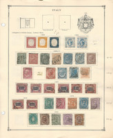 Italy stamp Collection on 2 Scott International Pages, 1862-1926 Loaded, DKZ