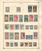 Italy stamp Collection on 2 Scott International Pages, 1910-1927 Loaded, DKZ