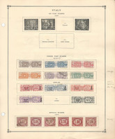 Italy Stamp Collection on 2 Scott International Pages, 1914-38 BOB, DKZ