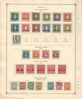 Italy Stamp Collection on 2 Scott International Pages, 1870-1933 BOB, DKZ