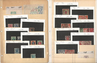 Danzig Stamp Collection on 4 Pages, Nice Early Lot, DKZ