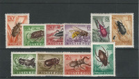Hungary, Postage Stamp, #C136-C145 Mint LH, 1954 Insects, JFZ