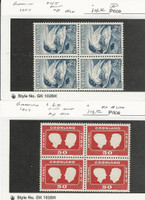 Greenland, Postage Stamp, #45, 69 Blocks Mint NH, 1937, JFZ