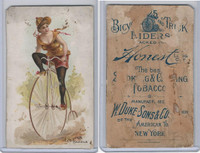 N100 Duke, Bicycle & Trick Riders, 1890, Leg Over Handle