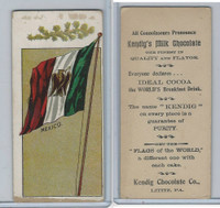 E236 Kendig's Chocolate, Flags Of The World, 1910, Mexico