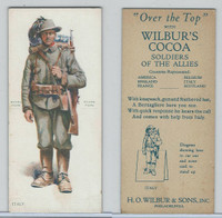 E252 Wilbur's Cocoa, Soldiers Of The Allies, 1918, Italy