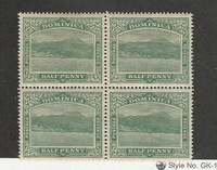Dominica, Postage Stamp, #35 WMK3 Mint NH Block, 1907, JFZ