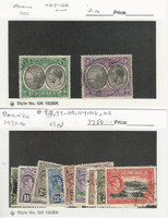 Dominica, Postage Stamp, #65-66, 97, 99-102, 104-106, 108 Used, 1923-40, JFZ