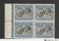 Dominica, Postage Stamp, #73 Mint NH Block, 1923, JFZ