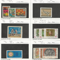 Middle East, Postage Stamp, #1492//1591 Mint NH & LH, 1968-71, JFZ