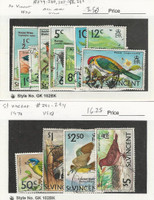St. Vincent, Postage Stamp, #279//294 Used, 1970 Birds, JFZ