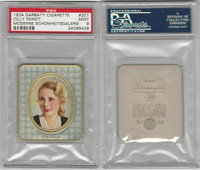 G14-15 Garbaty, Modern Beauty, 1934, #201 Cilly Feindt, PSA 9 Mint
