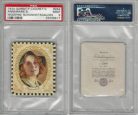 G14-15 Garbaty, Modern Beauty, 1934, #244 Annemarie S., PSA 9 Mint