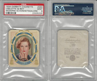 G14-15 Garbaty, Modern Beauty, 1934, #250 Liselotte de Boy, PSA 9 Mint