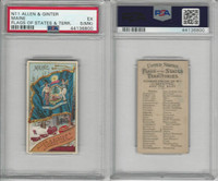 N11 Allen & Ginter, Flags of the States, 1888, Maine, PSA 5 MK EX