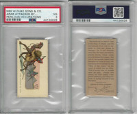 N86 Duke, Perilous Occupations, 1888, Arab Attacked By Lion, PSA 3 VG