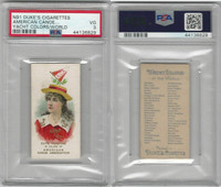 N91 Duke, Yacht Colors of the World, 1889, American Canoe Ass., PSA 3 VG
