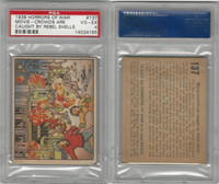 R69 Gum Inc, Horrors of War, 1938, #137 Movie Crowds Are Caught, PSA 4 VGEX