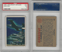 "1951 Bowman, Jets, Rockets, Spacemen, #37 ""Panther"" Airplane, PSA 5 EX"