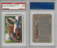 1951 Bowman, Jets, Rockets, Spacemen, #43 Riding A Dinosaur, PSA 5 EX