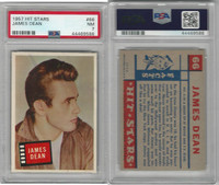 1957 Topps, Hit Stars, #66 James Dean, PSA 7 NM
