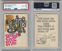 1972 Donruss, Silly Cycles, #8 Trail Boss, PSA 6 EXMT