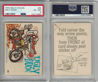 1972 Donruss, Silly Cycles, #65 Ugly Duck, PSA 6 EXMT