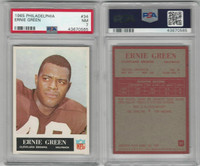 1965 Philadelphia Football, #34 Ernie Green, Cleveland Browns, PSA 7 NM