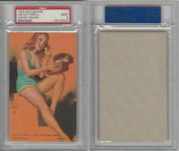 W424-2b Mutoscope, Artist Pin-Up Girls, 1945, I'm Out for A, PSA 9 Mint
