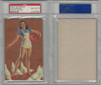 W424-2b Mutoscope, Artist Pin-Up Girls, 1945, It's Corn, Chicken, PSA 8 NMMT