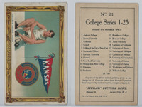 T6 Murad Cigarettes, College Series Premium, 1910, Kansas