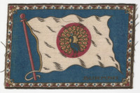 B6 Tobacco Flannel Insert, National Flags, 1910 (5X8 Inch), Burmah