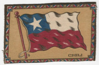 B6 Tobacco Flannel Insert, National Flags, 1910 (5X8 Inch), Chili