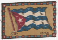 B6 Tobacco Flannel Insert, National Flags, 1910 (5X8 Inch), Cuba
