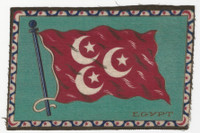 B6 Tobacco Flannel Insert, National Flags, 1910 (5X8 Inch), Egypt
