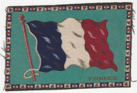B6 Tobacco Flannel Insert, National Flags, 1910 (5X8 Inch), France