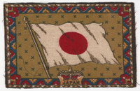 B6 Tobacco Flannel Insert, National Flags, 1910 (5X8 Inch), Japan (Beige)