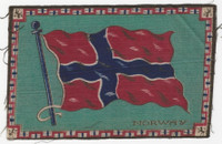 B6 Tobacco Flannel Insert, National Flags, 1910 (5X8 Inch), Norway