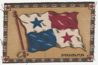 B6 Tobacco Flannel Insert, National Flags, 1910 (5X8 Inch), Panama