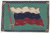 B6 Tobacco Flannel Insert, National Flags, 1910 (5X8 Inch), Russia