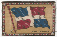 B6 Tobacco Flannel Insert, National Flags, 1910 (5X8 Inch), San Domingo