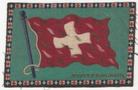B6 Tobacco Flannel Insert, National Flags, 1910 (5X8 Inch), Switzerland