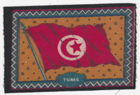 B6 Tobacco Flannel Insert, National Flags, 1910 (5X8 Inch), Tunis