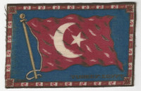 B6 Tobacco Flannel Insert, National Flags, 1910 (5X8 Inch), Turkey-Egypt