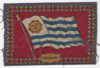 B6 Tobacco Flannel Insert, National Flags, 1910 (5X8 Inch), Uruguay